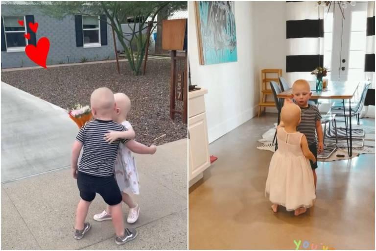 """Emouvantes retrouvailles entre deux enfants guéris du cancer : """"Ils n'arrêtaient pas de demander à se voir"""""""