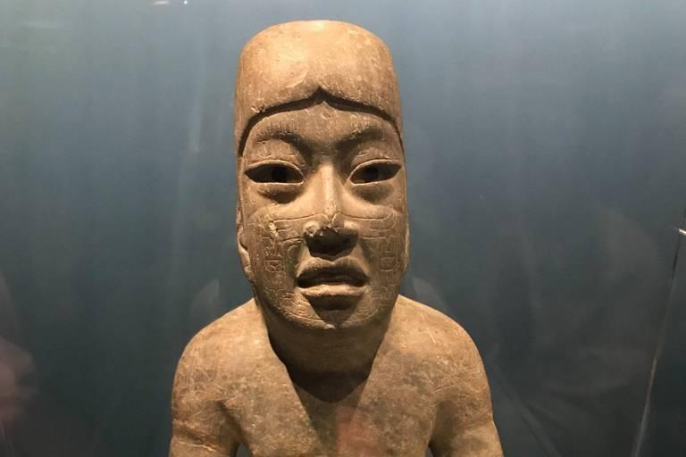 Monument 1, Señor de Las Limas, 900-400 av. J.-C., site de Las Limas, état du Veracruz, Mexique, Jadéite