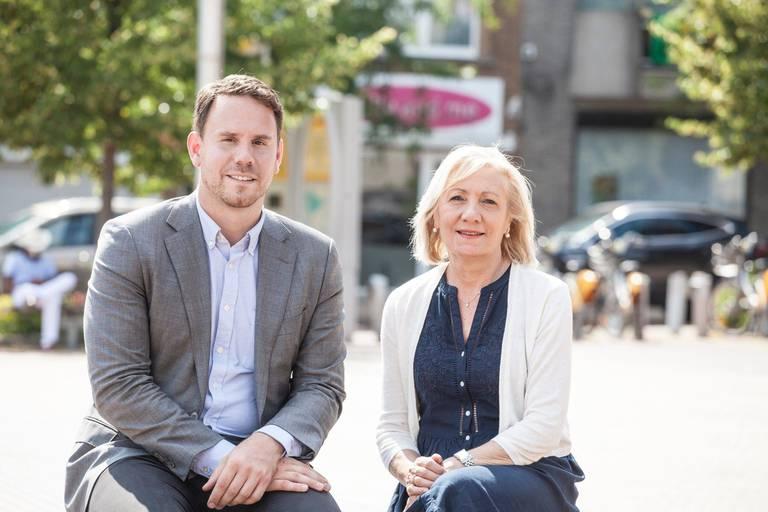 Les libéraux à la Ville de Bruxelles, David Weytsman et Clémentine Buggenhout.