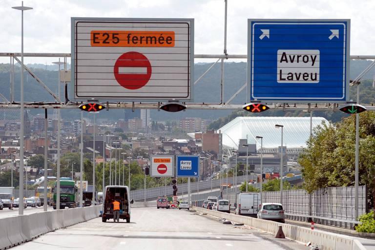 Intempéries: la réouverture du tunnel de Cointe, ce n'est pas encore pour tout de suite...