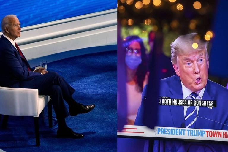 Trump dans la tourmente, Biden sur un nuage: les candidats à la présidentielle ont débattu jeudi, chacun de son côté