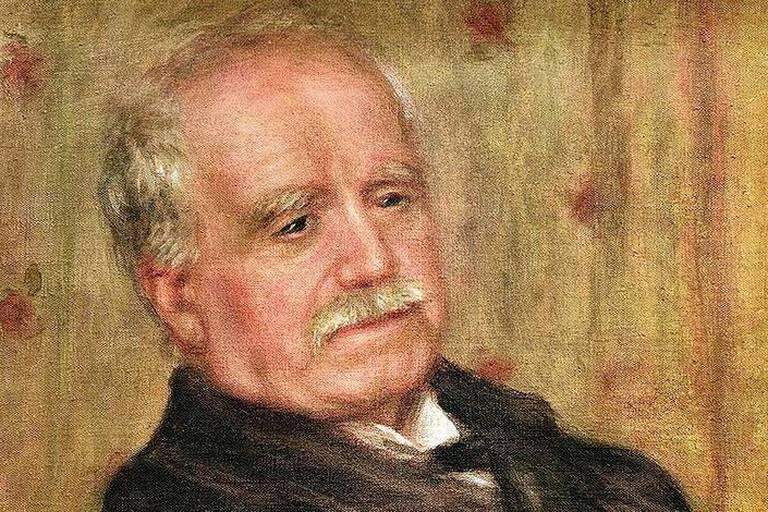 """Durand-Ruel, Paul; art dealer; 1831-1922.-""""Portrait de Paul Durand-Ruel"""" (Portrait of Paul Durand-Ruel).-Painting, 1910, by Auguste Renoir (1841-1919). Oil on canvas, 65 x 54cm. Paris, Private Collection."""