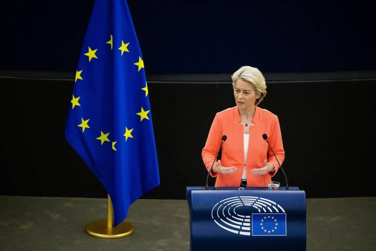 Ursula von der Leyen (CDU), présidente de la Commission européenne.