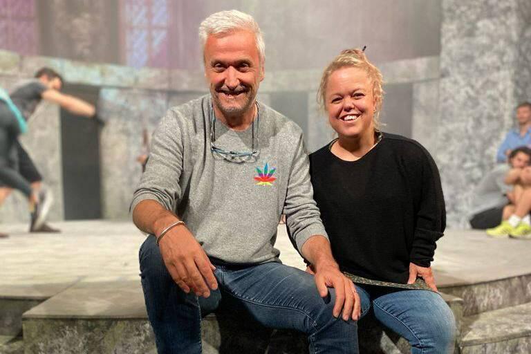 Thierry Debroux, metteur en scène, et Karen De Paduwa, comédienne.