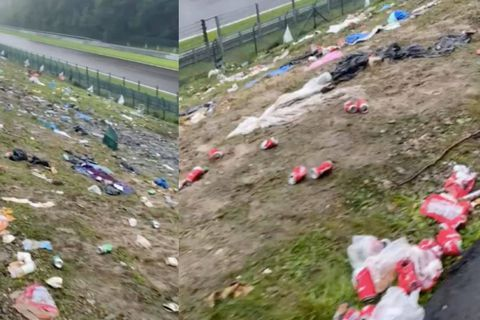 Les tribunes de Spa Francorchamps laissées dans un état honteux par les spectateurs