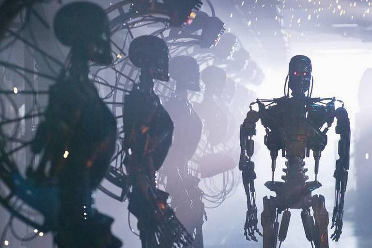 """(2009) Terminator Salvation, the highly anticipated new installment of """"The Terminator"""" film franchise, set in post-apocalyptic 2018, Christian Bale stars as John Connor, the man fated to lead the human resistance against Skynet and its army of Terminators."""