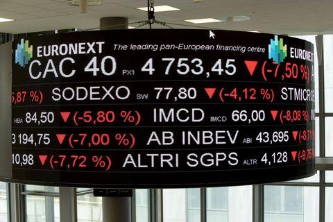 Les Bourses plongent, le Bel 20 retombe sous les 4 300 points
