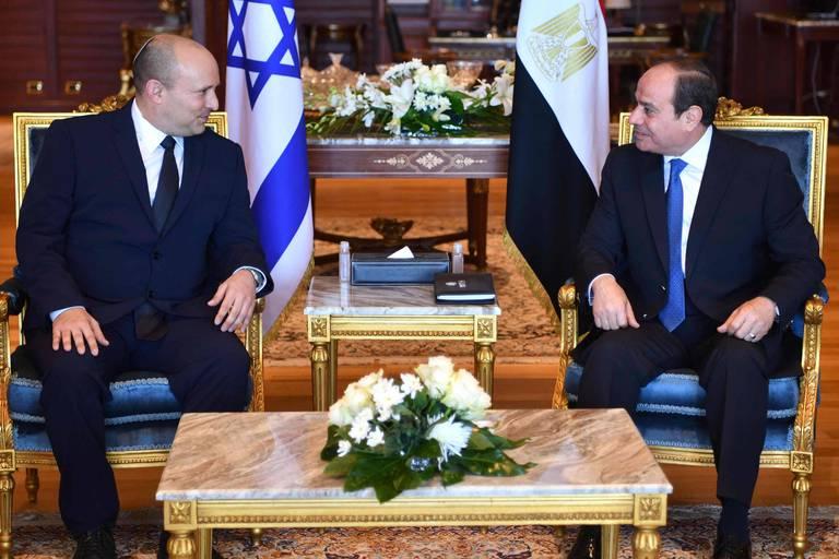Bennett et Al Sissi discutent d'efforts pour relancer le processus de paix