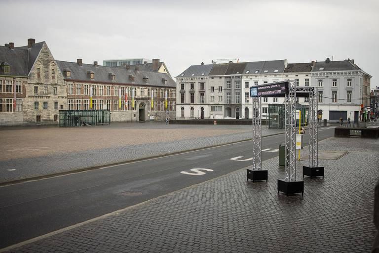 Une place de Gand évacuée pour le deuxième jour consécutif après des rassemblements