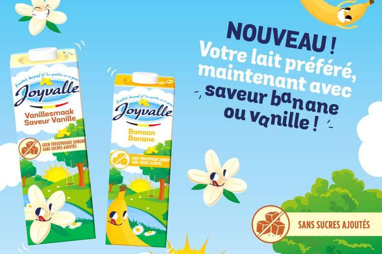 Remportez vos cartons de lait Joyvalle saveurs banane et vanille