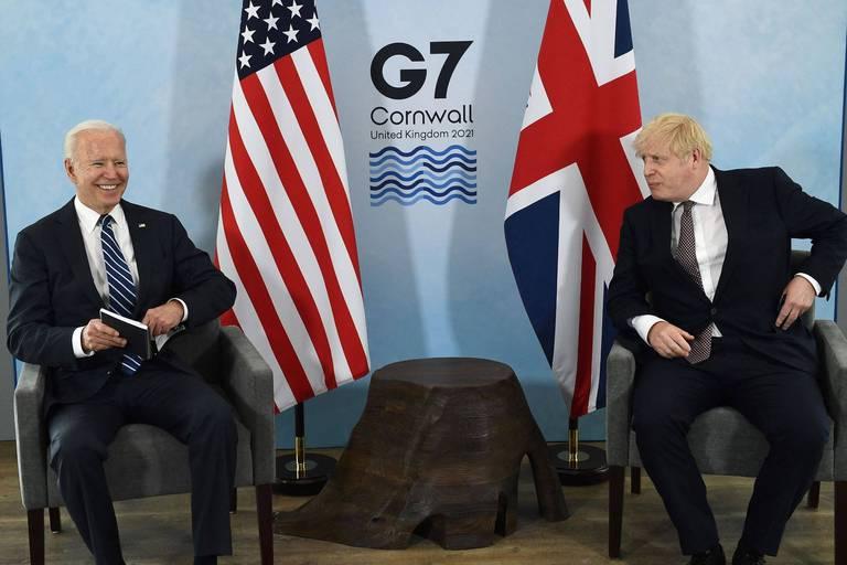"""""""J'ai dit au Premier ministre que nous avions quelque chose en commun..."""" : début de la rencontre Biden-Johnson à la veille du G7"""