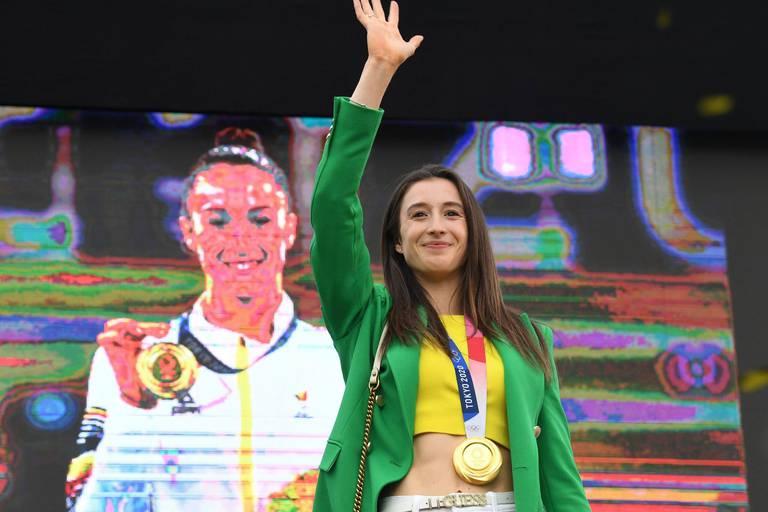 Médaillée d'or aux barres asymétriques, Nina Derwael décroche aussi le titre d'athlète la plus recherchée sur Google par les Belges.