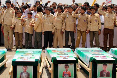 Yémen: la bombe qui a tué 51 personnes dans un bus vendue par les USA