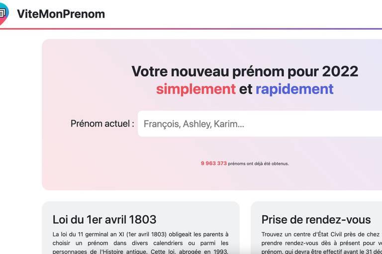 Un site se moque de Zemmour et propose aux internautes un nouveau prénom pour 2022: derrière le buzz, l'extrême droite?