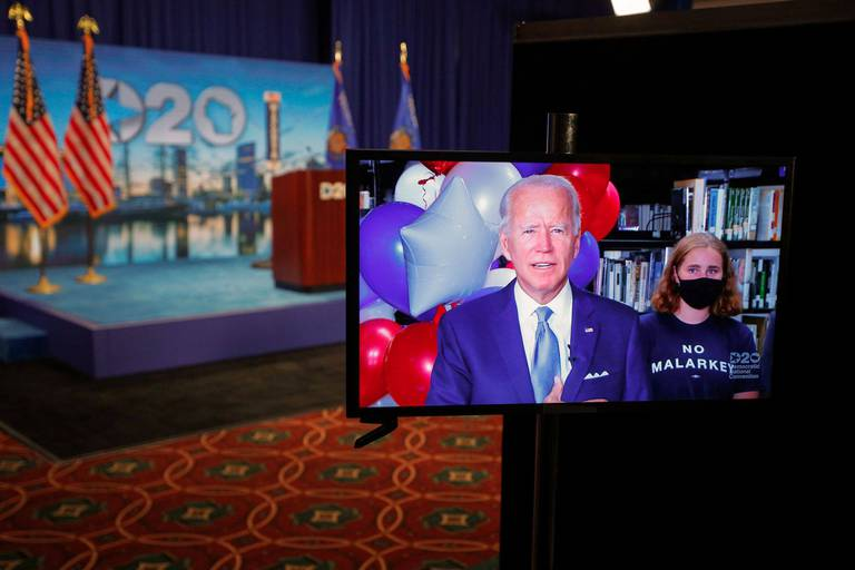 La Convention démocrate virtuelle a pris des airs d'Eurovision pour investir Joe Biden