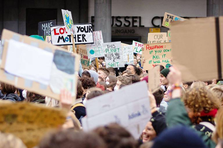 Illustration picture shows a student strike action, organized by 'Youth For Climate', urging pupils to skip classes to protest a lack of climate awareness, Thursday 10 January 2019 in Brussels. BELGA PHOTO LAURENT LEFEBVRE