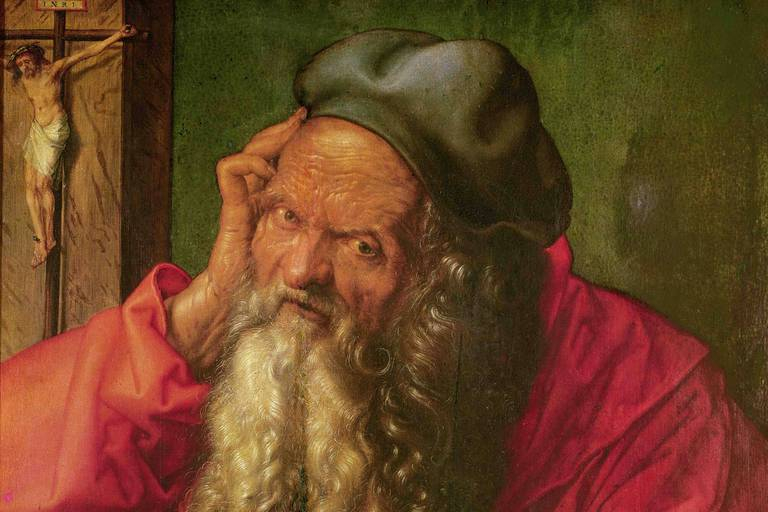 Albrecht Dürer: Saint Jérôme (1521), Museu nacional de Arte Antiga, Lisbonne