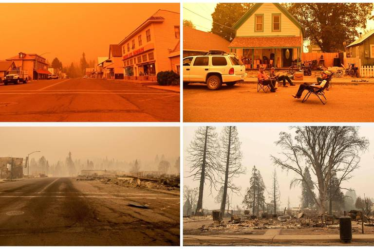 Avant/après: les terribles images d'une ville dévastée par les incendies