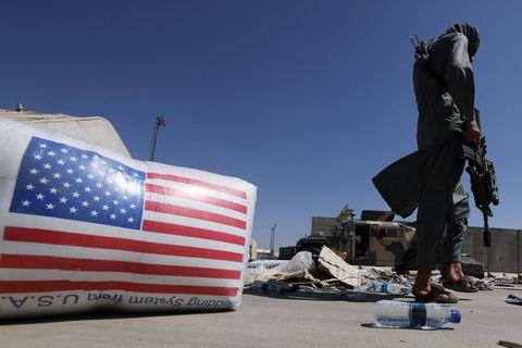À l'aéroport de Kaboul, les derniers vestiges de vingt ans de présence américaine