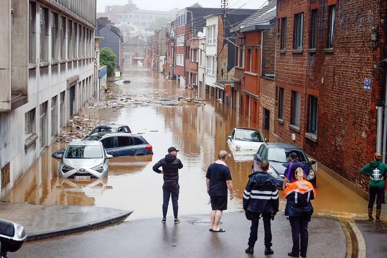 Consternation en de nombreux endroits de la province de Liège, particulièrement touchée par les intempéries.