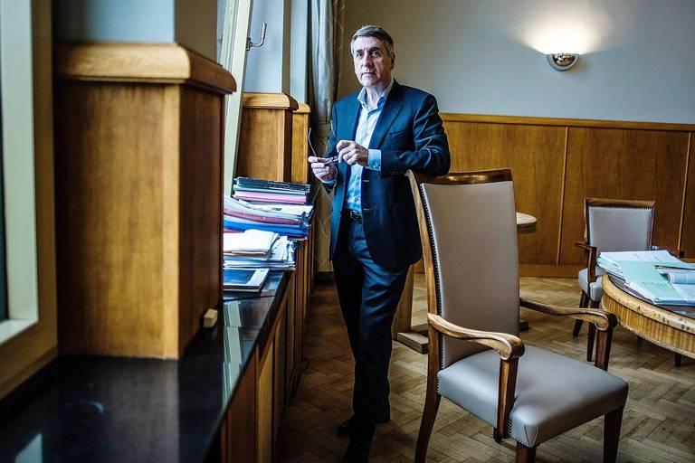 20170913 - BELGIQUE, BRUXELLES: Portrait Olivier Maingain, le 13 septembre 2018. PHOTO OLIVIER PAPEGNIES / COLLECTIF HUMA