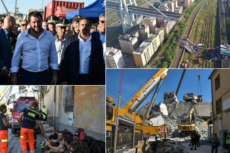 """Italie: Salvini demande de suspendre les péages, le procureur craint """"10 à 20"""" victimes supplémentaires"""