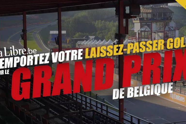 Concours abonnés: Remportez 3x2 accès GOLD pour assister au Grand Prix de Belgique de Formule 1