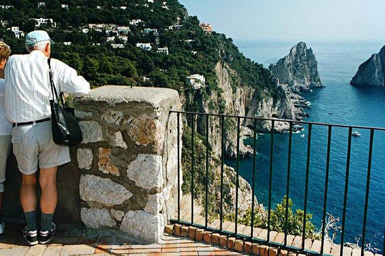 I01-20010312-CAPRI ISLAND (ITALY). An undated file photo of Capri island. Catholic priests on the Italian resort island of Capri have been ordered to stop performing wedding ceremonies for non-resident foreigners,causing concern in local hotels and luxury businesses. Church officials in Naples said Monday, 12 March 2001, that Christian weddngs should be celebrated in the parish where the couple are living as a brief stay on the island does not give the church enough time to prepare a couple for sacred union. EPA PHOTO ANSA/CIRO FUSCO/PR