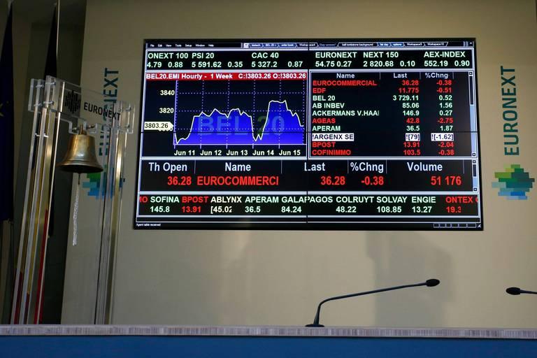 Les Bourses européennes trébuchent en fin de journée, le Bel 20 à -0,63 %