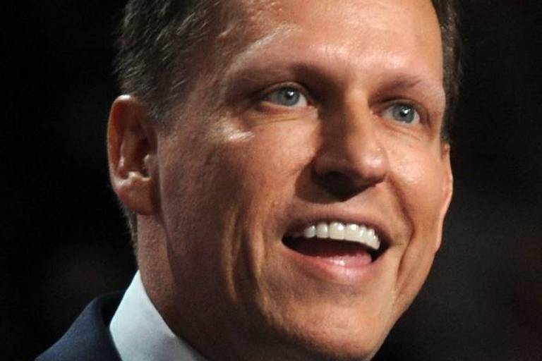 Peter Thiel, co-founder of PayPal, delivers a speech during the evening session on the fourth day of the Republican National Convention on July 21, 2016 at the Quicken Loans Arena in Cleveland, Ohio. Republican presidential candidate Donald Trump received the number of votes needed to secure the party's nomination. An estimated 50,000 people are expected in Cleveland, including hundreds of protesters and members of the media. The four-day Republican National Convention kicked off on July 18. Photo by Dennis van Tine/ABACAPRESS.COM Reporters / Abaca