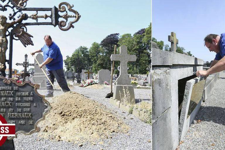 Lorsqu'il ouvre une tombe, le fossoyeur a parfois de mauvaises surprises