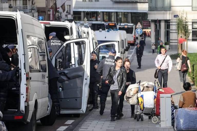 La centaine d'Afghans a quitté l'église Sainte-Croix à Ixelles