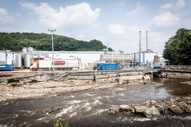 L'un des deux sites de production de l'usine a été ravagé par les inondations et la fureur de la Vesdre.