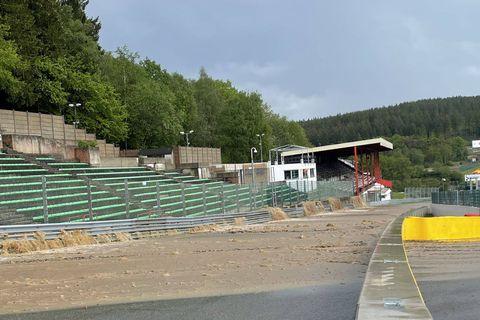 Le circuit de Spa-Francorchamps inondé !