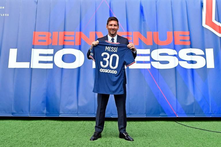 Premier entraînement de Lionel Messi avec le PSG