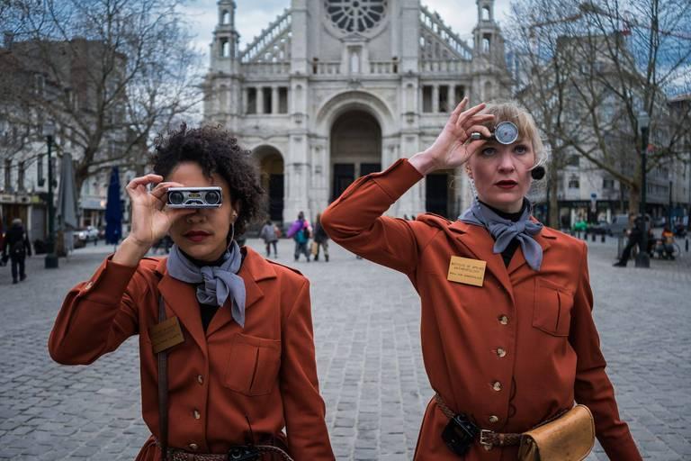 """Mbalou Arnould et Blanche Tirtiaux dans """"The Visit""""."""