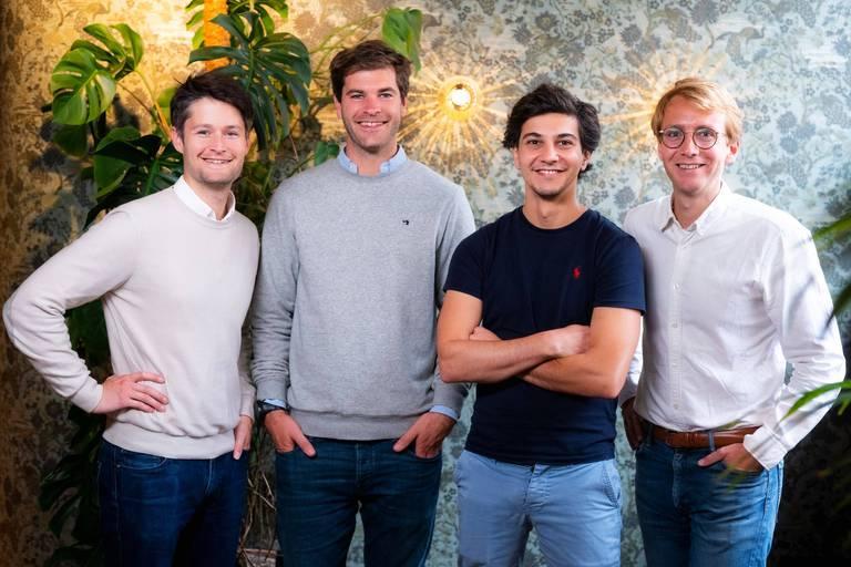 Les quatre fondateurs de Sortlist: Nicolas Finet, Charles De Groote, Michael Valette et Thibaut Vanderhofstadt.