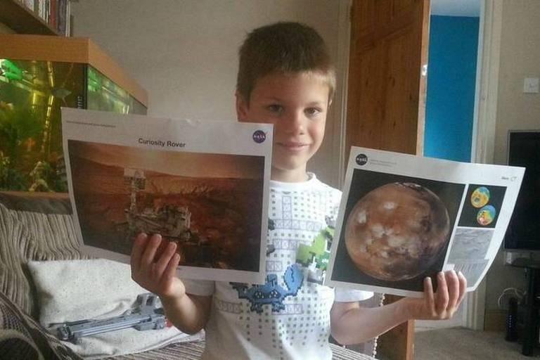 La réponse de la Nasa à un petit garçon qui veut aller sur Mars