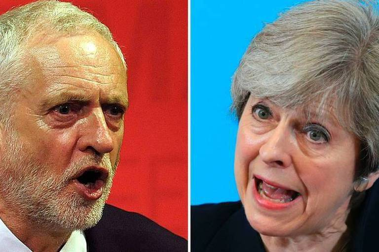 Législatives au Royaume-Uni: début du vote, la continuité avec Theresa May ou la révolution avec Jeremy Corbyn?