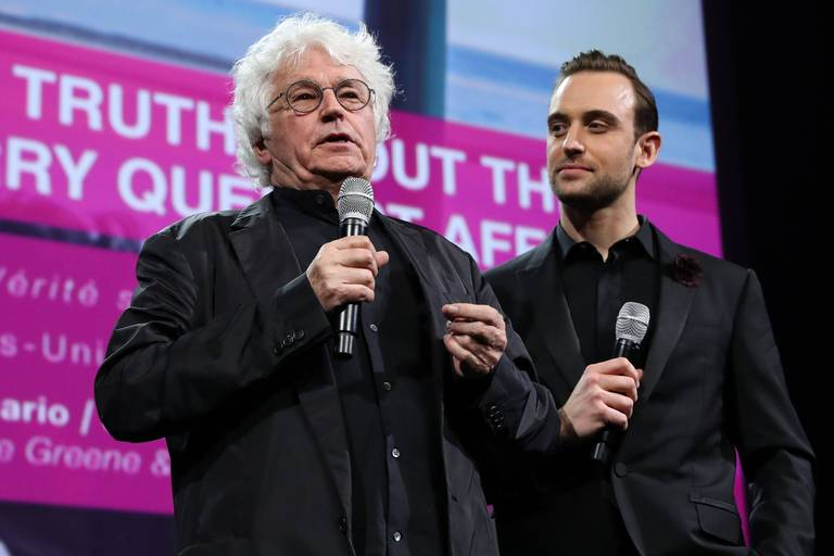 First CANNESERIES Competition Opening Ceremony before the exclusive screening of extracts of the series 'The Truth about the Harry Quebert affair'. Director Jean-Jacques Annaud, Joel Dicker. Reporters / Crystal Pictures