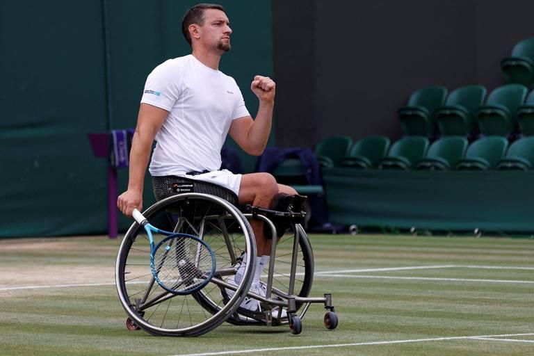 Joachim Gérard remporte Wimbledon en s'imposant face au Britannique Gordon Reid