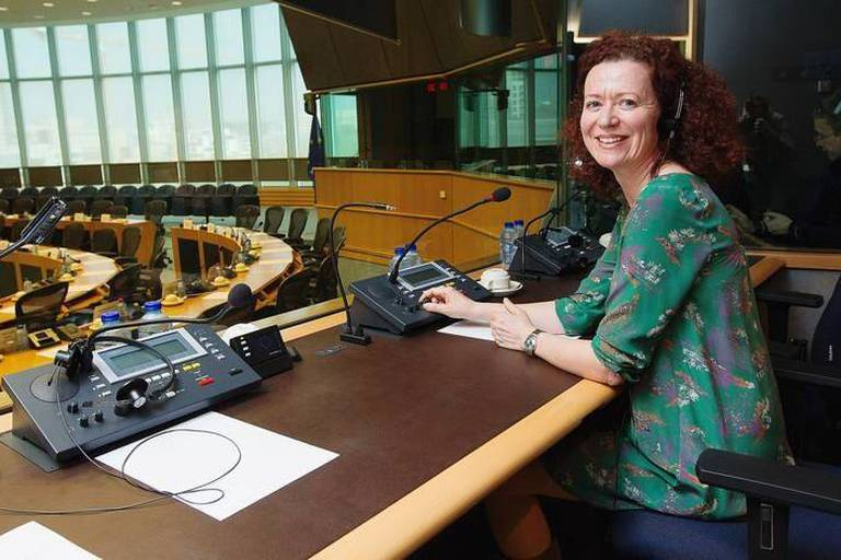 Olga Cosmidou, traductrice au Parlement Europeen