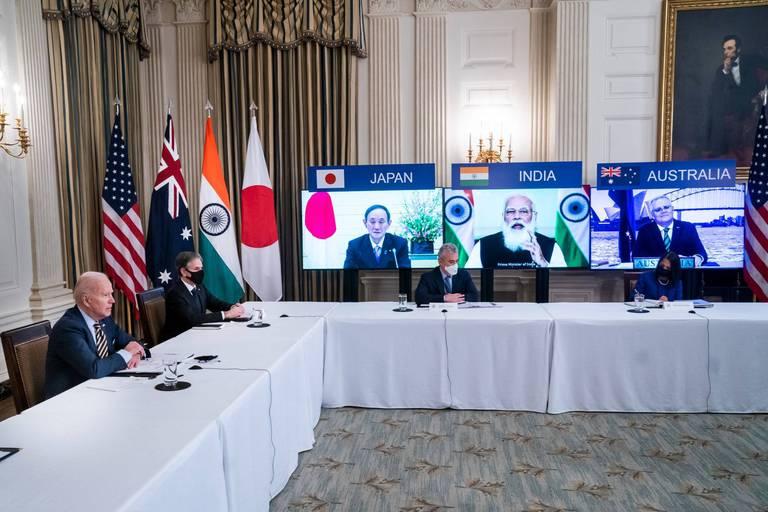 Biden, en quête d'alliances face à la Chine, recevra les Premiers ministres australien, indien et japonais
