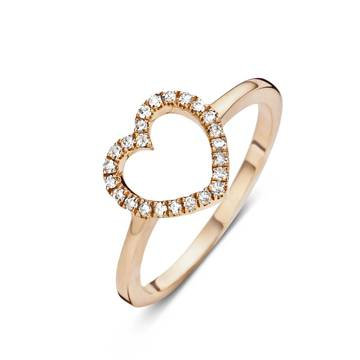 """Diamanti Per Tutti, bague Sofie Valkiers """"Little Heart for you"""", or rose, 150€."""