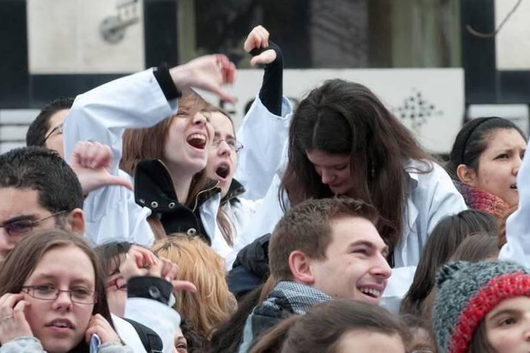 Les étudiants en médecine de l'UCL partent en grève