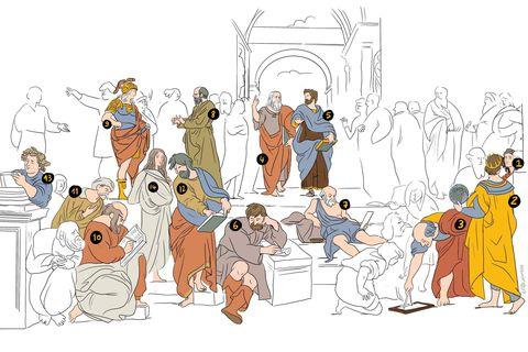Vous ne regarderez plus jamais l'École d'Athènes de Raphaël du même oeil