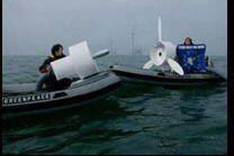 Greenpeace défend l'éolien offshore