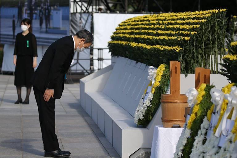 Le Japon commémore les 76 ans de la bombe de Hiroshima en pleins JO