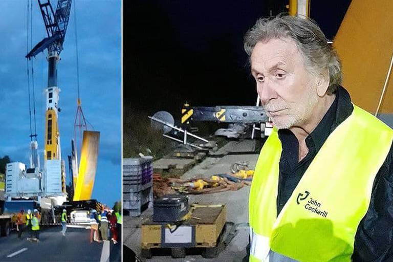 Bernar Venet allume l'autoroute de Wallonie