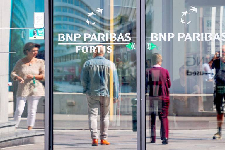Illustration picture shows a branch of BNP Paribas Fortis bank in Brussels, Thursday 12 July 2018. BELGA PHOTO HATIM KAGHAT